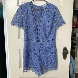 Lace romper with cutouts